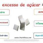 O que o excesso de açúcar causa?