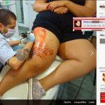 Gordinha tatuou a perna e…