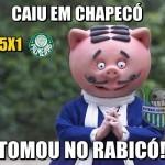 Chapecoense goleia Palmeiras e inspira memes