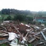 Confirmado passagem de tornado em Chapecó