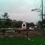 Ventos Fortes derrubam casas e deixam feridos em Chapecó, SC